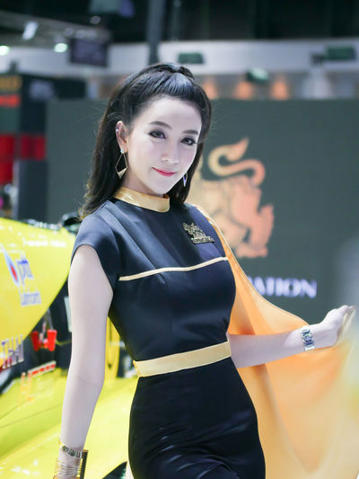 dec.3 2017 thailand motor expo 2017 impact challenger Motor Show Singha Beer Beautiful Woman Day Fashion Happiness Lifestyles Looking At Camera Motor Expo One Person People Portrait Pretty Pretty Girl Real People Singha Smiling Standing Young Adult Young Woman Young Women Young Women Portrait Human Face Beautyful Woman Beautyful Women