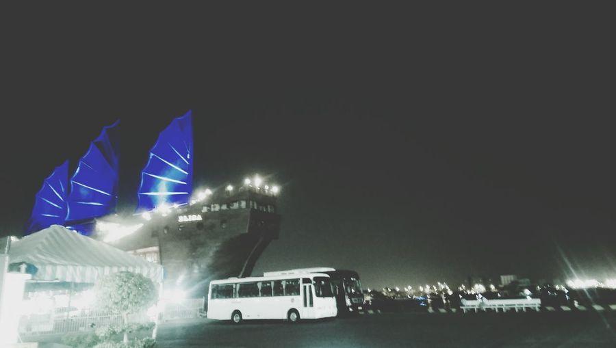 Blue Boat Night Wind Wings