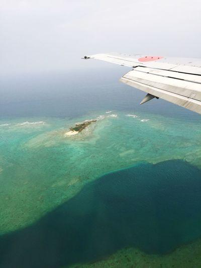 From Airplane Window Naha OKINAWA, JAPAN Landing