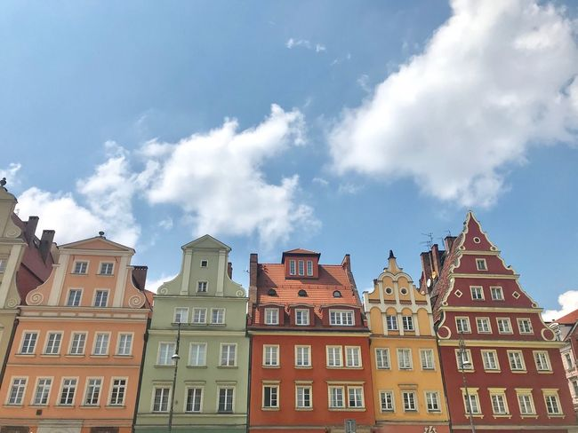 Travel Photography Trip Travel Destinations Poland Wroclaw, Poland Building Exterior Architecture Built Structure Sky Cloud - Sky Building Low Angle View City Town History