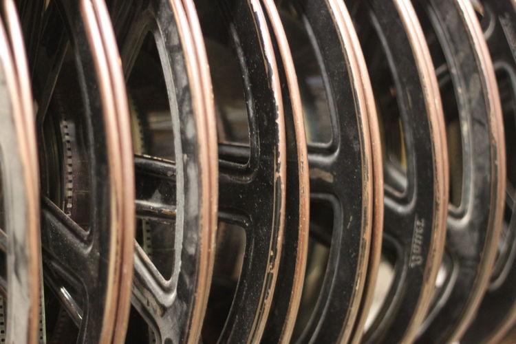 Full Frame Shot Of Wheel Rims