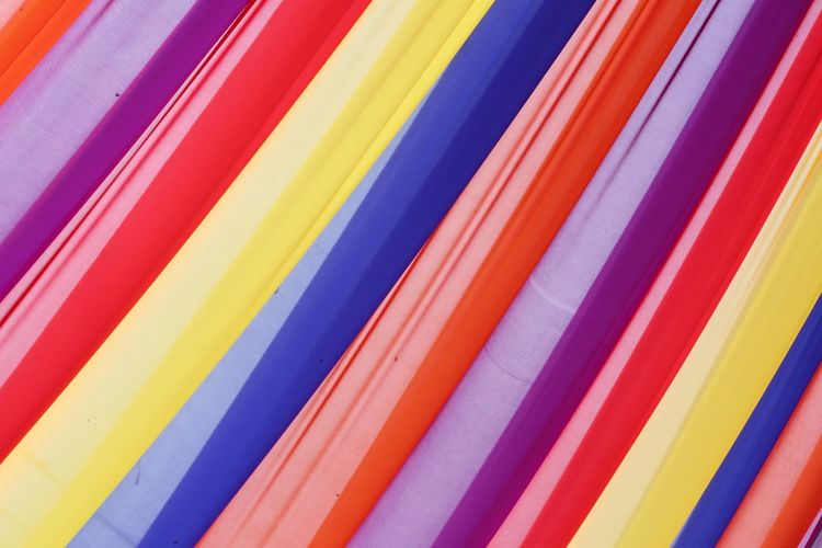 Full frame shot of colorful curtains