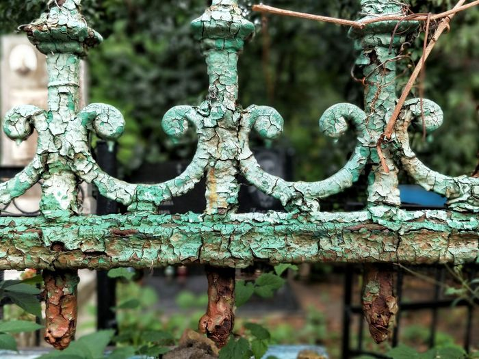 Rusty Day Metal No People Outdoors Close-up Green Color Abandoned Nature Cemetery Kiev Ukraine Fence
