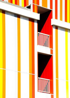 Built Structure Yellow Architecture Outdoors No People Building Exterior Multi Colored Day Geometric Shape Contemporary Art Graphic Architecture Minimalism Fine Art Photography Façade Abstract Photography Light And Shadow