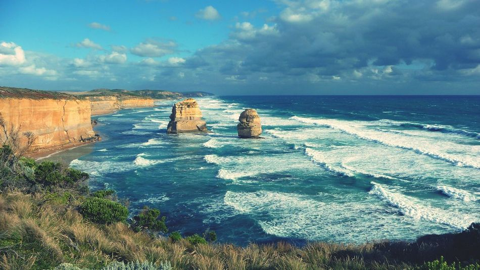 Sea Blue No People Beach Cloud - Sky Wave Outdoors Horizon Over Water Landscape Sky Nature Water Beauty In Nature Day Australia Australian Landscape 12 Apostles Miles Away