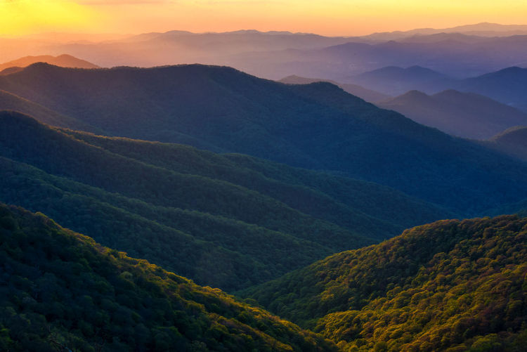 Beauty In Nature Blue Ridge Mountains Craggy Gardens Day Idyllic Landscape Mountain Mountain Range Nature No People Outdoors Physical Geography Scenics Sky Sunset Tranquil Scene Tranquility
