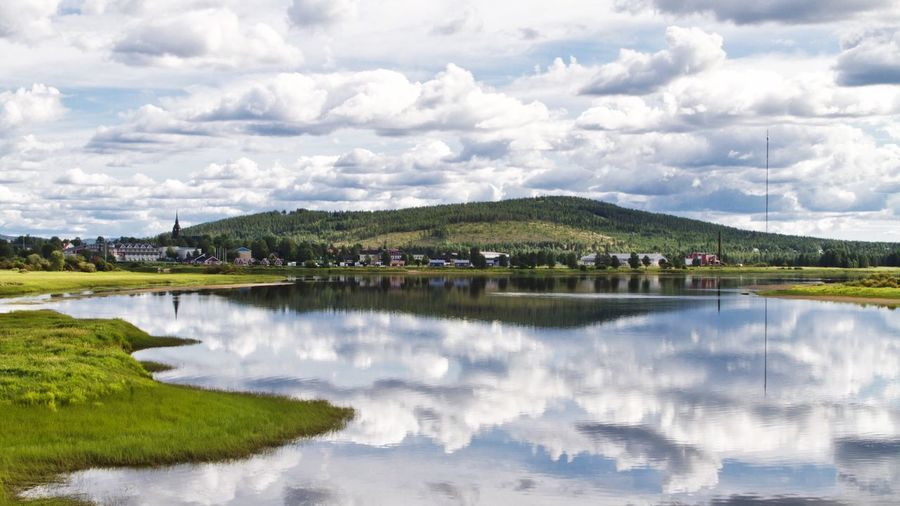 Small town in Sweden Small Town Sweden Reflection Landscape Landscape Photography Water Water Reflections Sky Cloud Lake Landscapes With WhiteWall The Essence Of Summer light and reflection The Great Outdoors - 2017 EyeEm Awards