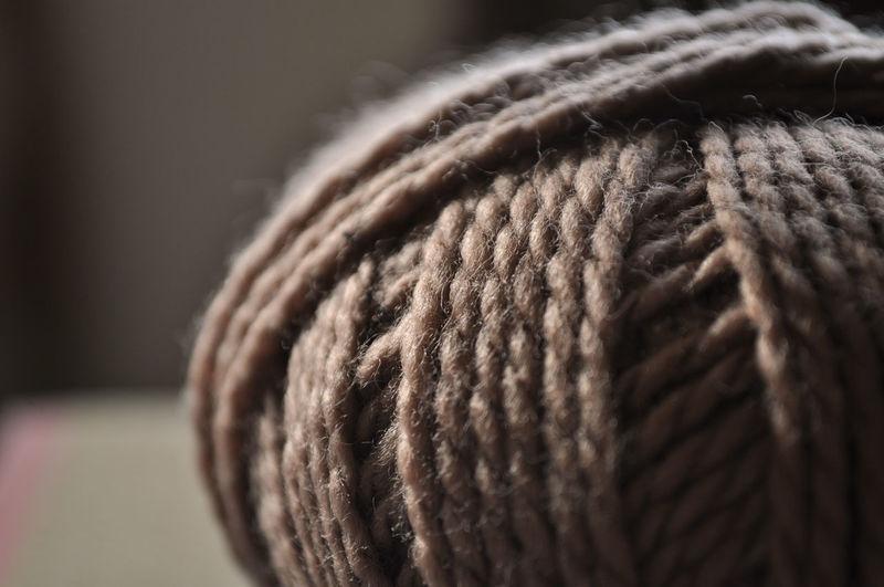 Close-up of wool ball