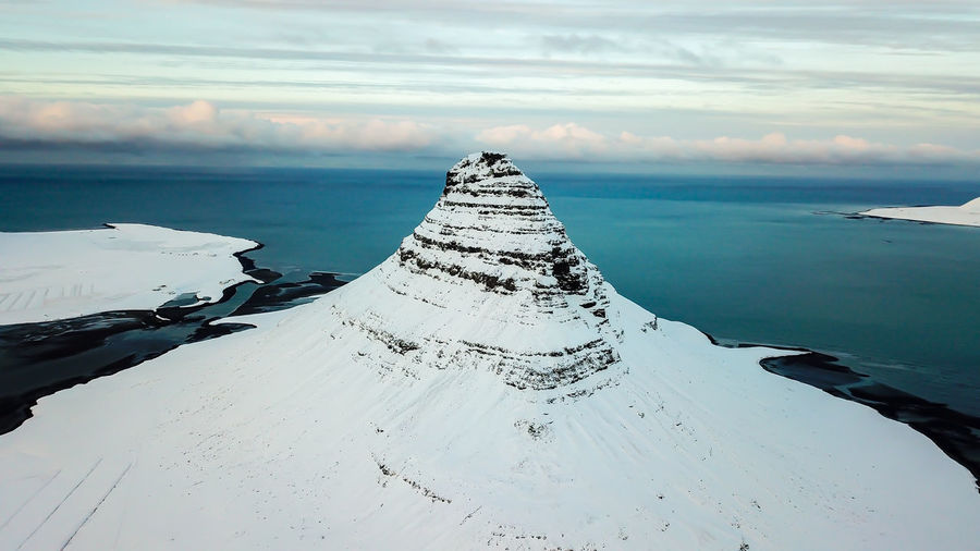 Epic Kirkjufell Landscape_Collection Nature Photography Beauty Beauty In Nature Cloud - Sky Frozen Gameofthrones Idyllic Landscape Landscape_photography Landscapes Nature Nature_collection Naturelovers No People Scenics - Nature Sea Sky Snow Water Winter
