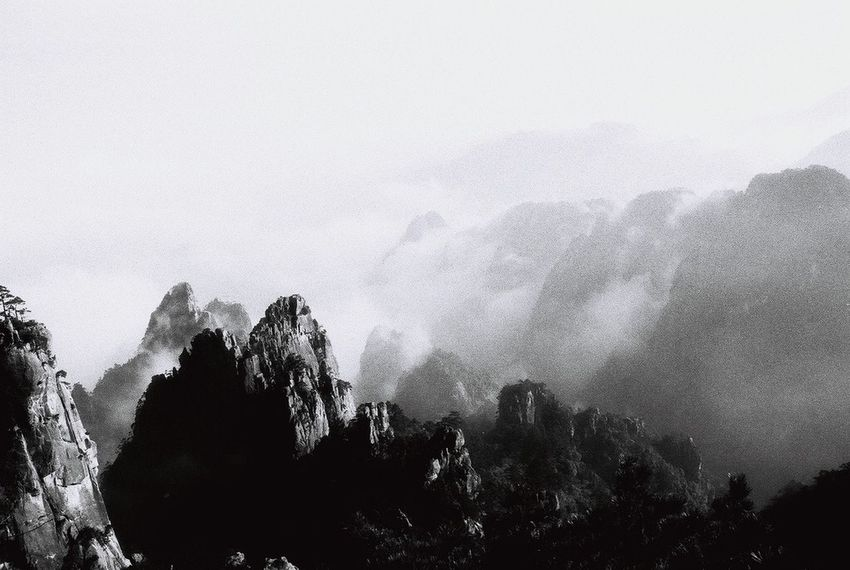 Yellowmountains China Blackandwhite Traveling