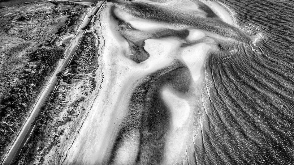 Day Nature Outdoors Motion Water Scenics No People Beauty In Nature Nature Dronephotography Drone  Phantom 3 P3 Sand Beach Tranquil Scene Sea Sand Dune Eyeyem Travel Collection Beauty In Nature Droneshot New Jersey Delaware Bay Drone Photography Drone Moments