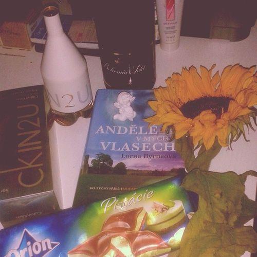 Birthday Sunflowet Calvin .kleinAngels chocolate ♥