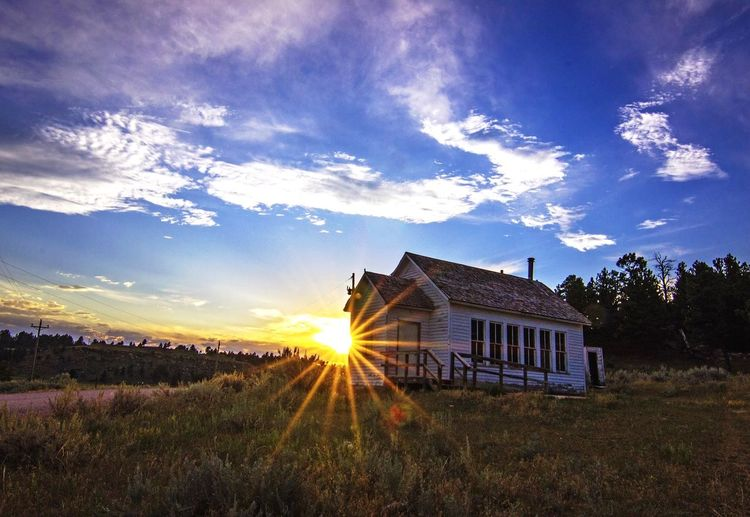 Landscape Landscape_photography Abandoned Places Abandoned Church Abandoned Schoolhouse Sunset Rural Rural Scenes Wyoming