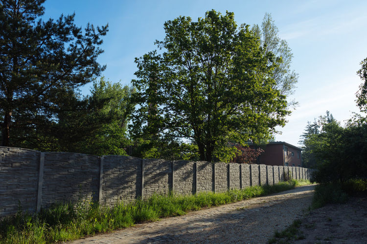 Wroclaw, Poland Tree Plant Sky Road Boundary Fence Barrier Nature Direction Architecture No People The Way Forward Transportation Footpath Built Structure Land Growth Day Building Exterior Sunlight Outdoors Diminishing Perspective