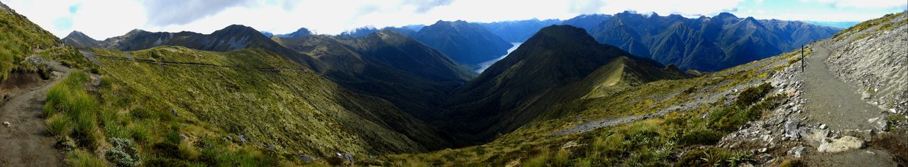 Mountain Panoramic Scenics - Nature Landscape Mountain Range Environment Nature Sky Rock Beauty In Nature Mountain Peak Land Day Tranquil Scene Solid No People Rock - Object Plant Valley Travel Outdoors Mountain Ridge New Zealand Panorama