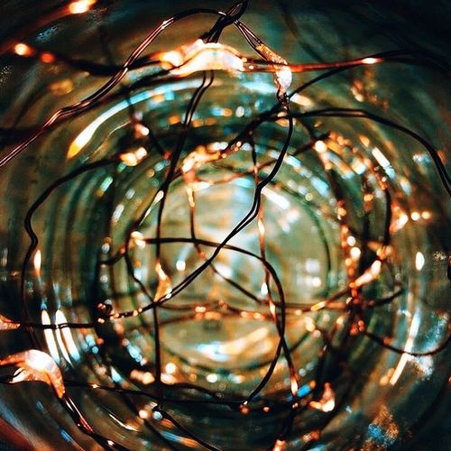 Close-up of christmas lights