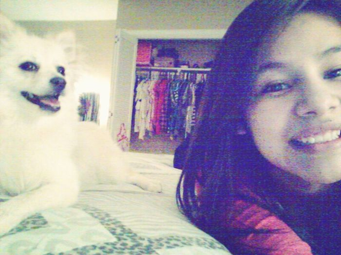 im such a loser who's staying in with my dog & she doesnt even wanna spend the night with me!:(
