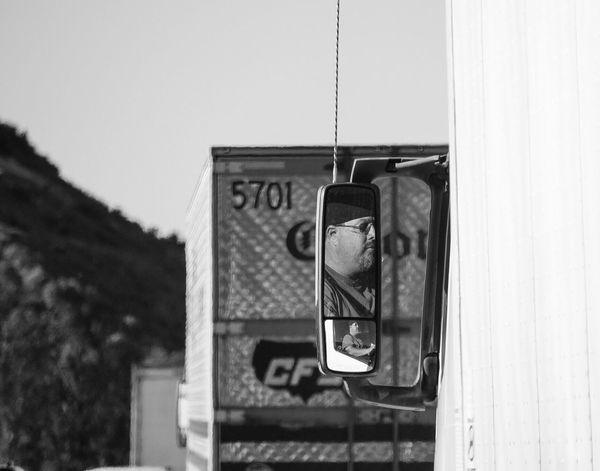 Life On The Road Lifeontheroad Las Vegas Truckerslife Roadtrip Blackandwhite Blackandwhite Photography Black & White Highways&Freeways Freeway Reflection Mirrorreflection Leicacamera Trucker