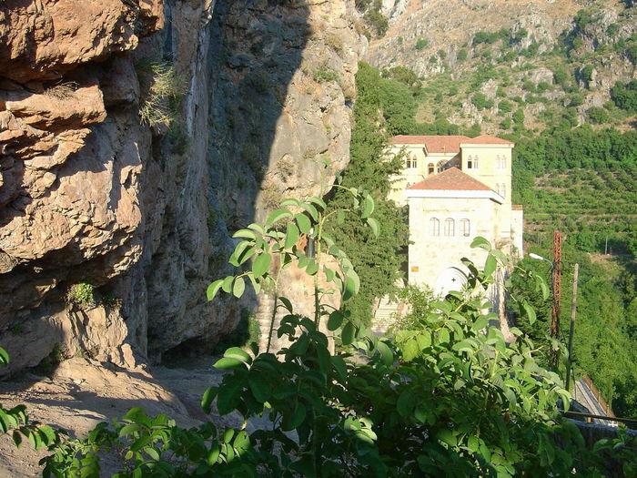 Day Kozhaya Lebanon Mar Antonios Monastery Mountains And Sky Outdoors