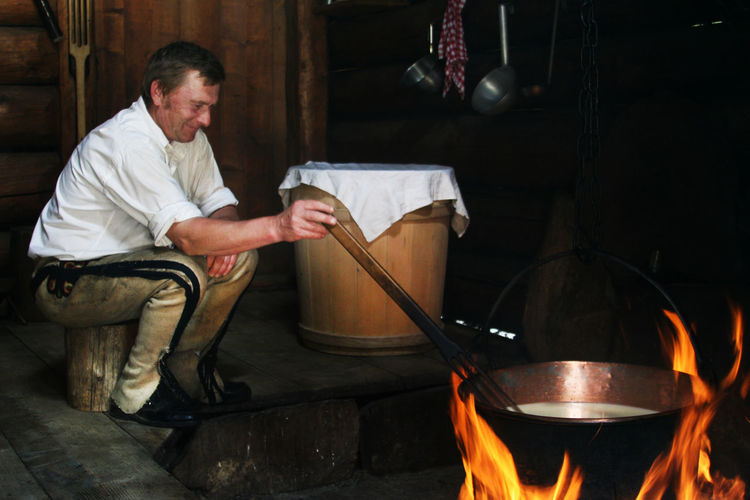Cottage Cheese Gorals Kettle Tatra Mountains Tatry The Week On EyeEm Tradition Traditional Culture Traditional Clothing Cauldron Cheese Fire Fireplace Food Preparation Goat Cheese Górale Hearth Highlander Lifestyles Portrait Pot Preparing Food Rural Scene Traditional Costume Traditional Food