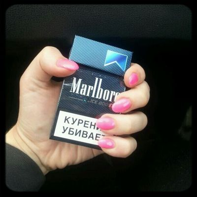 smoking kills. l know. but I love marlboro mint. Smoke Nail Art Nail