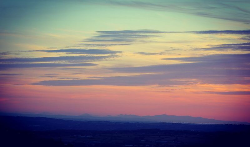 Pastel Sunset Sunset Tranquility Beauty In Nature Atmosphere Atmospheric Mood Dramatic Sky Clouds And Sky