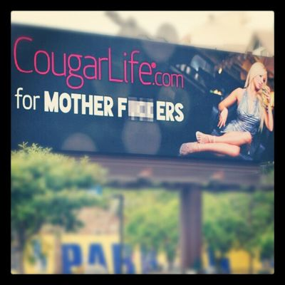 This is fucking amazing. Well played, @TheCougarLife. Wellplayed Cougarlife Billboard Sunsetblvd