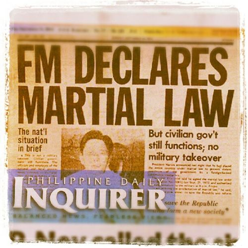 """I signed Proclamation No. 1081..."" MartialLaw Philippines History Commémoration neveragain philippinehistory marcos marcosregime ferdinandmarcos republicofthephilippines instagraphy themanansala photography pdi nationalgeographic manila milan newyork newzealand paris london LA australia ireland brazil europe asia"