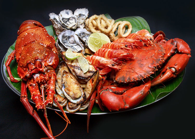 Seafood Platter,Port Vila, Vanuatu . Happy Hour Lobster Sailing Ship Seafood Bar Staff Barman Cocktails Crab - Seafood Crayfish Crustacean Food Food And Drink Healthy Eating Islandlife Luxury Melanesian Mussels Oyster  Pacific Ocean Platter Red Sails Seafood Sunset Tourism Travel Destinations