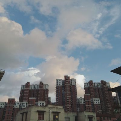 Sky Building Story Building Exterior Architecture Built Structure City Low Angle View Modern City Life Urban Skyline Good Morning Shanghai