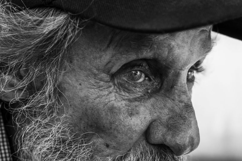 Senior Adult Monochrome Black And White Portrait Close-up Real People One Person Human Body Part Body Part Headshot Human Face Looking Eye Adult Men Human Eye My Best Photo