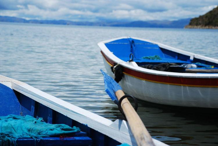 Boats On Rippled Lake