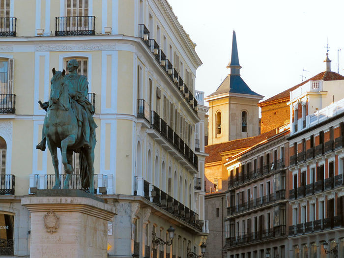 Equestrian Statue Of King Carlos Iii In Madrid