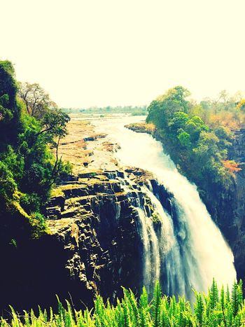 Victoria Falls Waterfall Africa Water Nature Victoriafalls Tranquility Scenics Sky Outdoors African Beauty