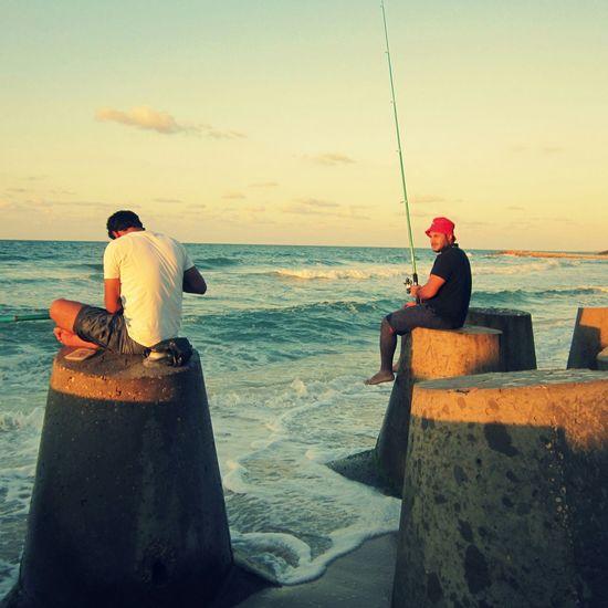 Egypt Sinai Fishing Friends relax sun see