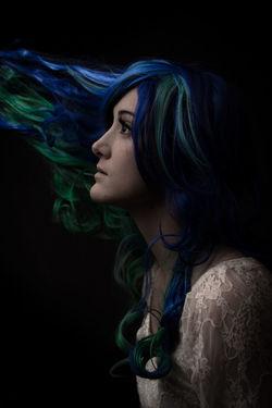 Ouija. Utah Photographer Black Background Beautiful Woman Young Women Beauty Studio Shot Headshot Human Face Females Long Hair