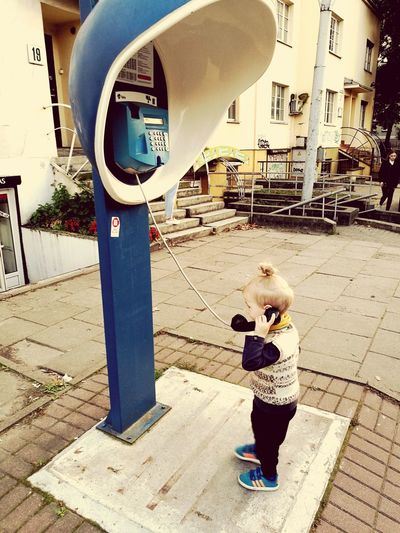 Day Standing One Person Childhood Telephone Booth Telephone Pole Telephone Photography Calling Home Child
