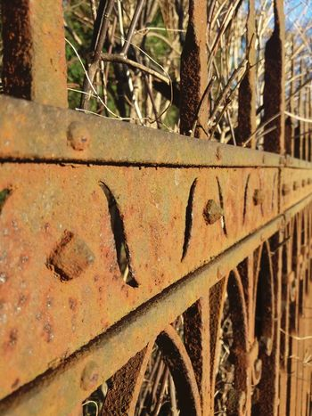 Rusted Metal Texture, Metal Exposed To Time, Rusty Old Metal, Metal Background. Close-up Day Metal No People Outdoors Rusted Fence Rusted Metal  Rusty
