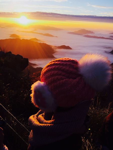 A New Beginning🌤 Beauty In Nature Rear View Sky Outdoors Sunrise Cloud Fog Seafog Mist Seamist First Eyeem Photo ภูชี้ฟ้า ภูชี้ฟ้า เชียงราย Phucheefah Phucheefha_thailand Dawn