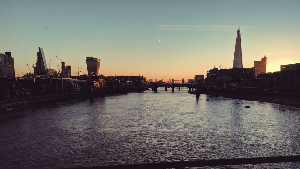 City Urban Skyline Water Travel Destinations London Blackfriars The Shard, London London Bridge