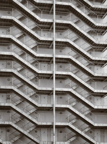 Full Frame Backgrounds Architecture No People Day Outdoors Modern City Repetition Pattern Stairs Building Exterior