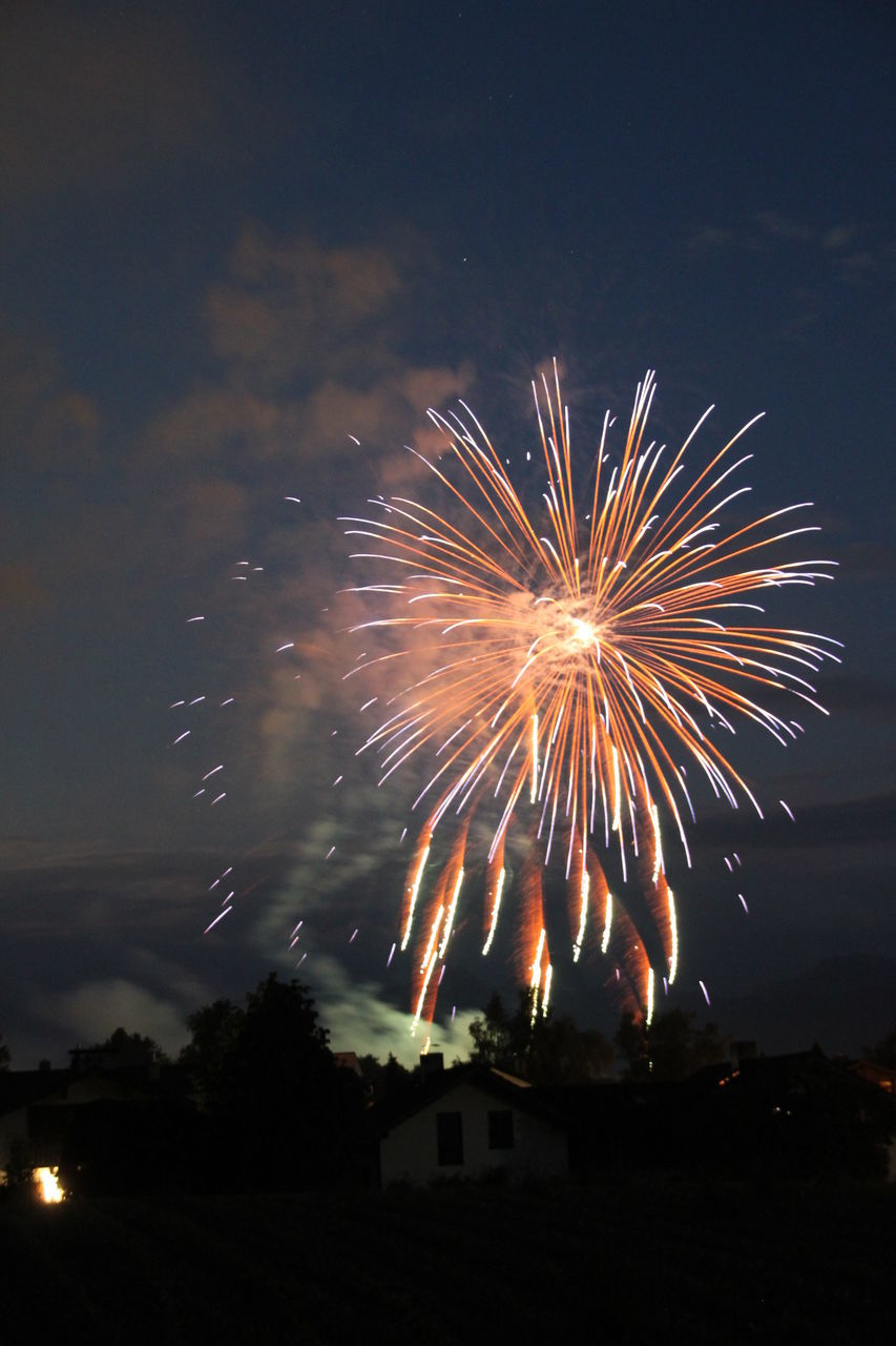 firework, night, motion, illuminated, event, celebration, long exposure, firework display, exploding, arts culture and entertainment, sky, blurred motion, glowing, architecture, no people, nature, building exterior, firework - man made object, light, built structure, sparks, outdoors, explosive
