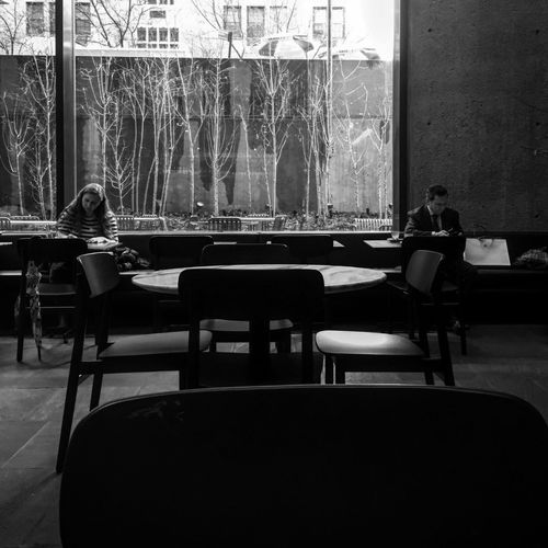 Sitting Chair Real People Table Indoors  Women Men One Person Day People Adult NYC NYC Photography Museumcafe