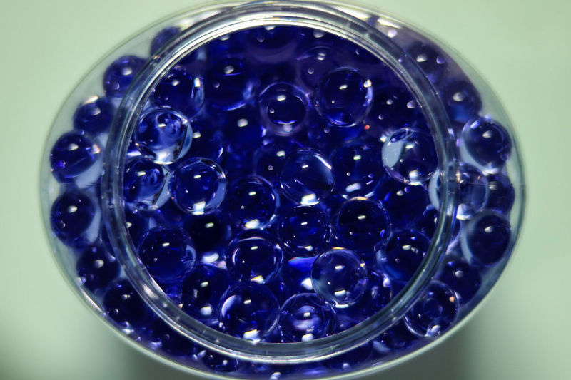Beautifully Organized Blue Close-up No People Science Day Eyeem Market From My Point Of View Eyeem Philippines Canonphotography Beads Blue Beads Blue Scented Beads Round Objects Small Objects Objects In The Jar