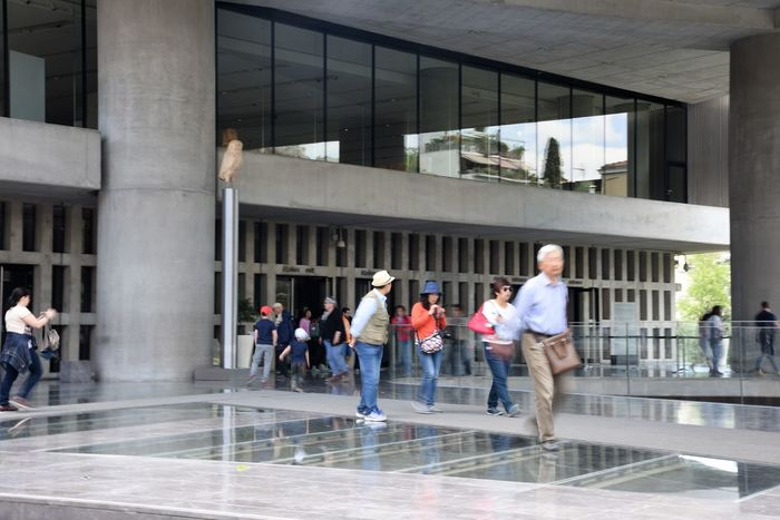 Acropolis Museum Acropolis, Athens Adult Adults Only Architecture Building Exterior Built Structure Chinnese Poeple Visit Greece Day GREECE ♥♥ Japannese People In Gre Japannese Scenery Japannese Tourist Large Group Of People Lifestyles Men Museums Outdoors People Real People Walking Women