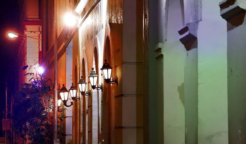 Architecture Building Exterior Built Structure Colaba Hanging Illuminated India Mumbai Night No People Outdoors