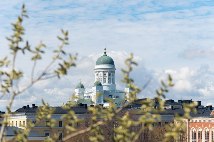 Cathedral City Finland Helsinki Scandinavia Sightseeing Architecture Bluesky Day Dome Nordic Outdoors Springtime Travel Destinations