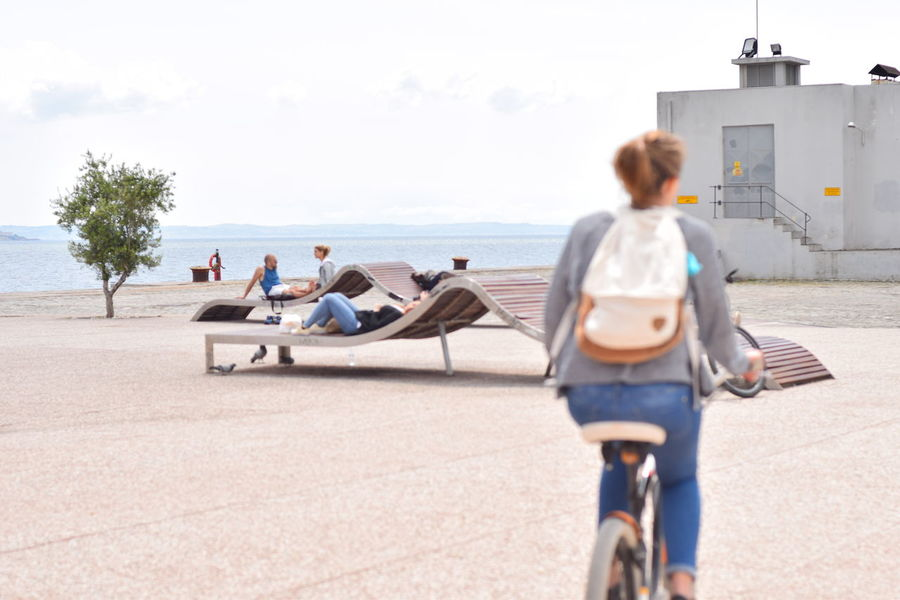 Thessaloniki port in spring Sea View Bycicle Ride Cheeling Thessaloniki Port  Thessaloniki Greece Port Beach Life Showcase: May Following The Following On The Way CyclingUnites Enjoy The New Normal Mobility In Mega Cities Summer Exploratorium
