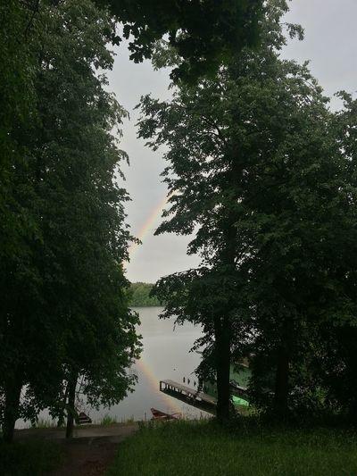 Laiptai Trakai Relaxing Check This Out Water Nature Sky Rainbow Rainbow Colors Rainbow🌈 Rainbow Reflection Vaivorykste