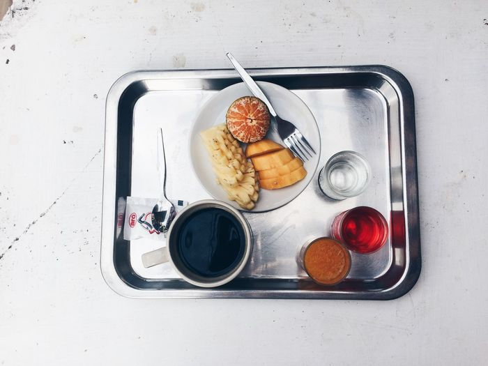 Food And Drink On Table
